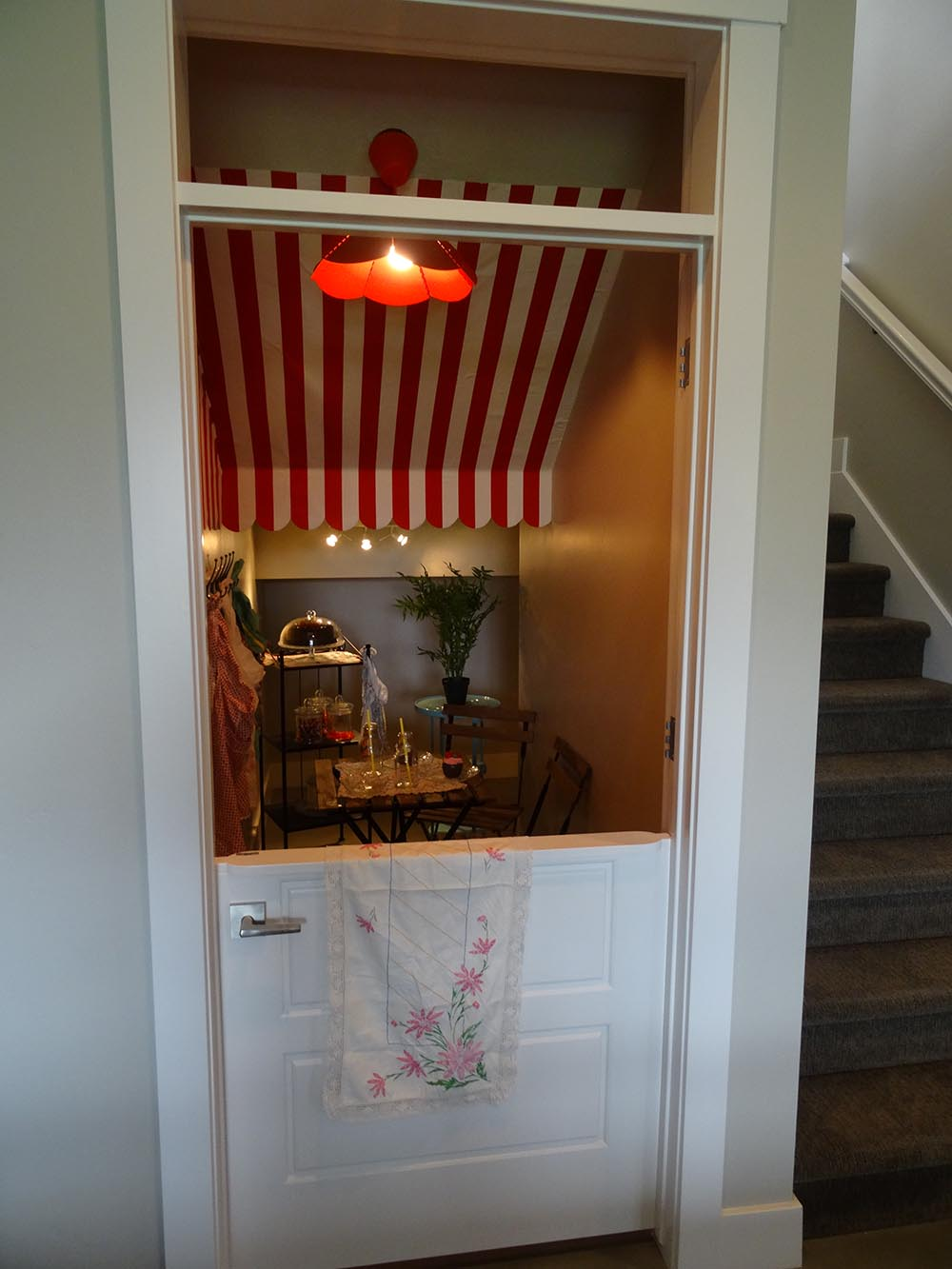 Kids playroom under the stairs