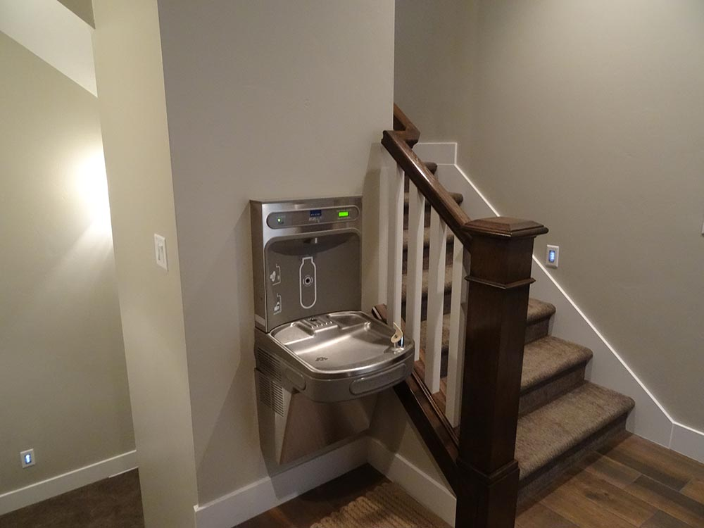 Drinking Fountain/stairs to bonus room